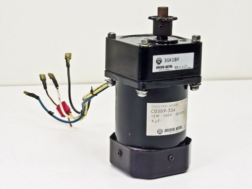 Oriental Induction Motor 15W 100V 50/60Hz w/ 3GK18K Gear He (C0309-334)