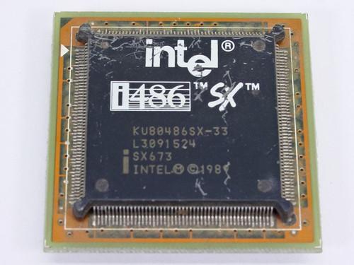 Intel 486 SX Processor KU80486SX-33Mhz (SX673)