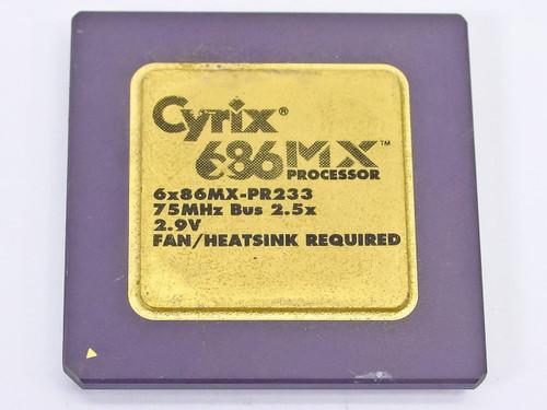 Cyrix 686 75MHz Gold Faced CPU (6x86MX-PR233)