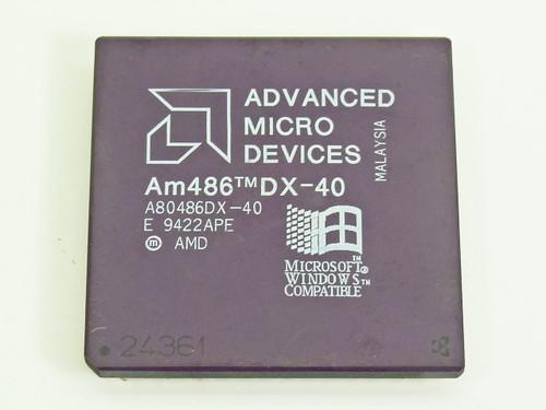 AMD 40 MHz CPU (A80486DX-40)