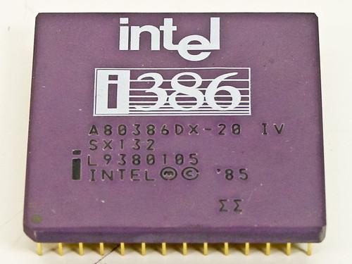 Intel 386DX-20 MHz Processor CPU A80386DX-20 (SX132)