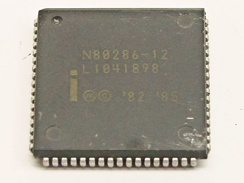 Intel 286 12 MHz Processor CPU 68-Pin Plastic LCC (N80286-12)