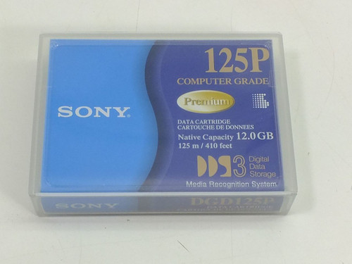 Sony 4mm DDS-3 12 GB Data Cartridge (DGD125P)
