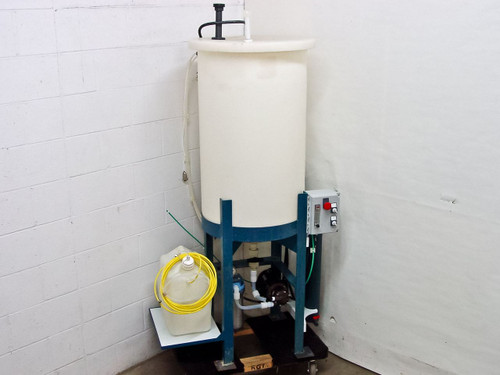 "Ryan Herco Flow Solutions Conical Drum with 24"" Stand, Pump, Filter Housing, 55"