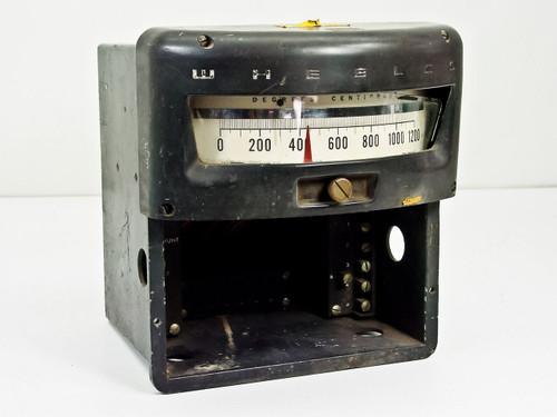 Wheelco 0-1200 Degrees C Vintage Temperature Display Gauge (402)