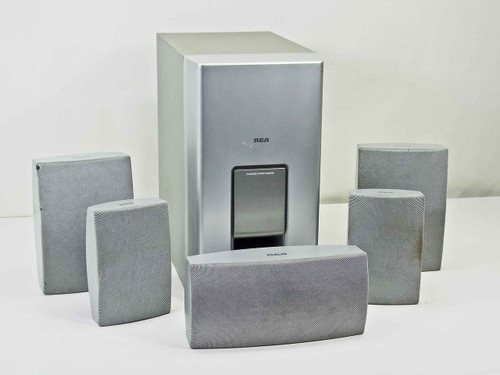 RCA 6 piece surround sound speaker set without Cables - Cosmetic Issues