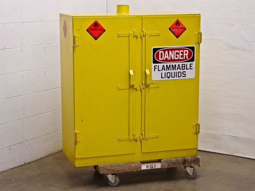 Yellow 40 x 36 x 16 Storage Cabinet (Flammable Liquid)