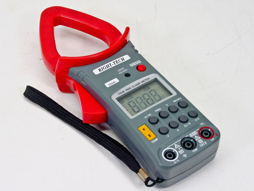 Right-Tech True Rms Clamp Meter AC/DC Current to 600A, 3-3/4 Digit LCD (53341)