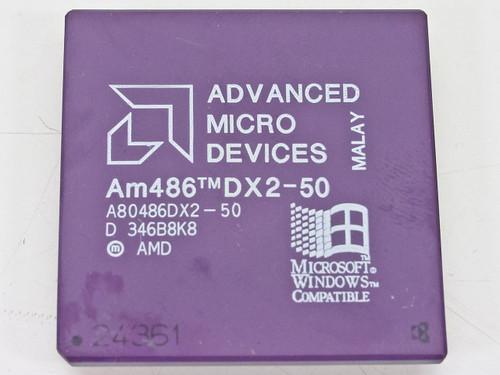 AMD  50 MHz CPU Processor Chip A80486DX2-50