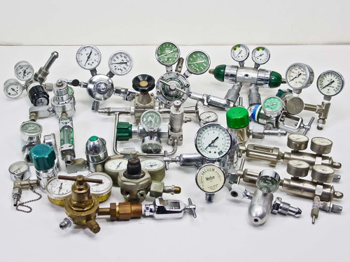 Various Lot of Pressure Valves, Regulators, and Gauges (Miscellaneous)