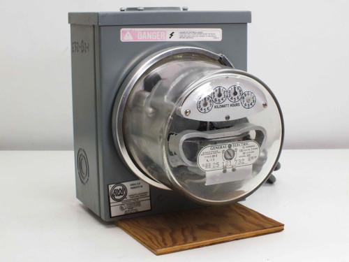 Types Of Electric Meters : Ge i s single phase watthour meter w type r