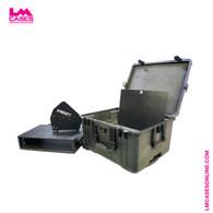 Professional Wireless LPDA Antenna Case w/Combiner Rack