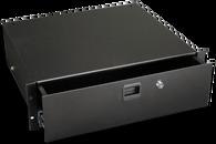 """Penn Elcom R3233LK Black 3RU 15"""" Deep Steel Rack Drawer"""