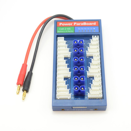 Safe Paraboard Parallel Charging Board for JST XH & EC-3 Connectors