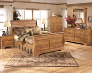 Bittersweet Light Brown 8 Pc.Queen Sleigh Bedroom Collection