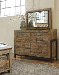 Sommerford Brown Dresser & Mirror