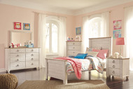 Willowton Whitewash 6 Pc. Twin Panel Bedroom Collection