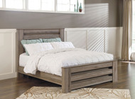 Zelen Warm Gray Queen Panel Bed