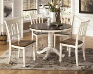 Whitesburg Brown/Cottage White 6 Pc. Round Dining Room Set