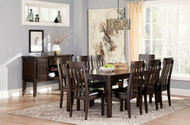 Haddigan Dark Brown 10 Pc. Rectangular Extension Dining Set