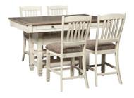 Bolanburg Antique White 5 Pc. Rectangular Counter Height Dining Set