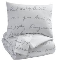 Adrianna White/Gray King Comforter Set