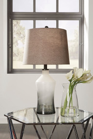 Nollie Gray Glass Table Lamp