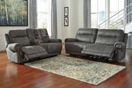 Austere Gray Reclining Sofa & Loveseat Set
