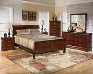 Alisdair Dark Brown 6 Pc. Dresser, Mirror, Chest, King Sleigh Bed & Nightstand