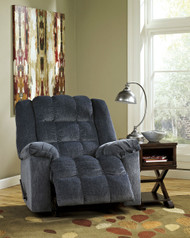Ludden Blue Rocker Recliner