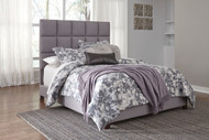 Contemporary Gray Upholstered Queen Bed