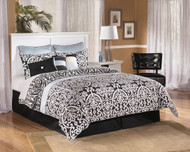 Bostwick Shoals White Queen/Full Panel Headboard