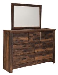 Quinden Dark Brown Dresser