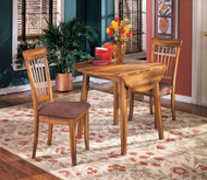 Berringer Rustic Brown Round Dining Room Drop Leaf Table