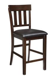 Haddigan Dark Brown Upholstered Barstool