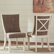 Bolanburg Antique White Dining Double Upholstered Side Chair