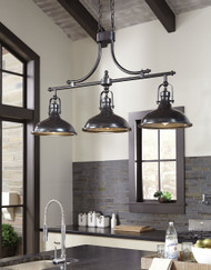 Joella Bronze Finish Metal Pendant Light