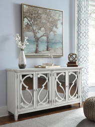 Mirimyn Gray Door Accent Cabinet