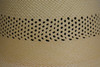 Perforated detail on Ladies Open Band Capeline