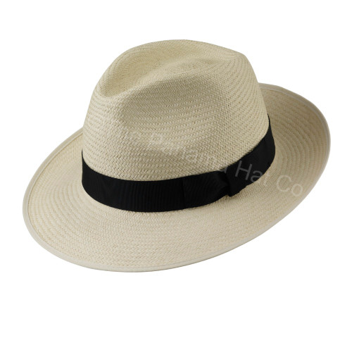 Snap Brim Trilby panama - shown in Cuenca 3/5 with black band