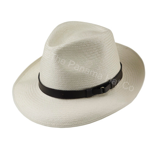 Snap Brim Trilby - shown in Almond with Leather band