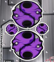 Skull Gel Purple Purple