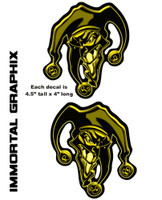 Joker 3D Gel Decal Dark Yellow