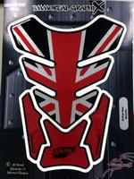 Black Red British Metallic 4 sides Tank Pad Protector