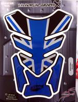 Black Blue British Metallic 4 Sides TanK pad Protector