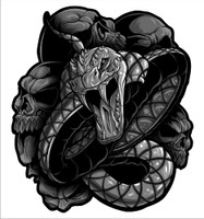 Die cut highly detailed Venom Snake Decal, Sticker.  These graphics are superb and the quality of the sticker is even better.  If you purchase two, we will mirror the 2nd item for you automatically