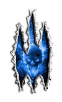 Exploding Skull Rip Sticker Cut to the exact shape