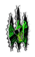 Venom Snake Rip Vinyl Sticker Decal Green