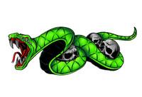 Snake Bite Green Decal Sticker