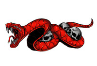 Snake Bite Red Decal Sticker